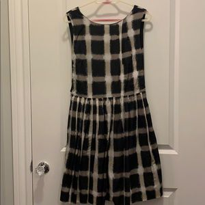 Marc by Marc Jacobs black and grey plaid dress